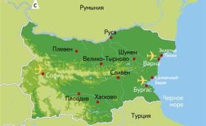 Болгария карта