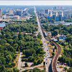 Киев Станция метро Гидропарк, Русановский мост,  Бровары на горизонте